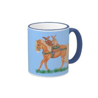 Easter Bunnies Ride Horse Mug