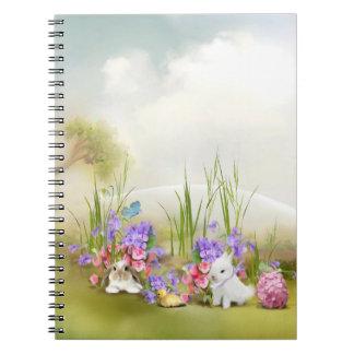 Easter Bunnies Spiral Notebook