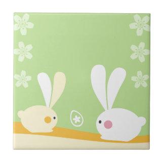 Easter Bunnies Tile