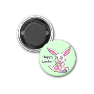 Easter Bunny 1 Inch Round Magnet