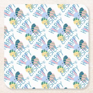 jasmineflynn Easter Bunny 1 Square Paper Coaster