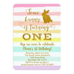 bunny birthday invitations zazzle