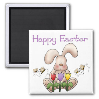 Easter Bunny 2 - Happy Easter Magnet