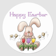 Easter Bunny 2 - Happy Easter Stickers