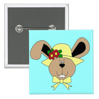 Easter Bunny 2 Inch Square Button