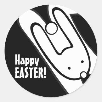 Easter bunny_2 round sticker