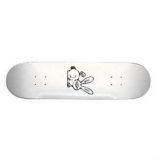 Easter Bunny and Baby Chick Custom Skate Board