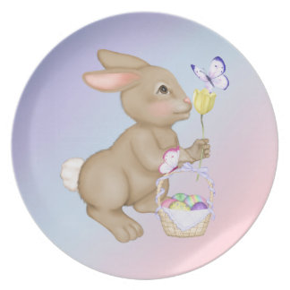 Easter Bunny and Basket Party Plates
