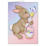 Easter Bunny and Butterfly Greeting Cards
