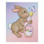 Easter Bunny and Butterfly Print