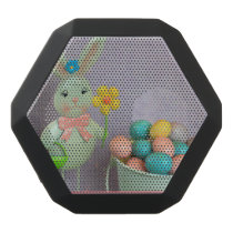 Easter Bunny and candy eggs Black Bluetooth Speaker
