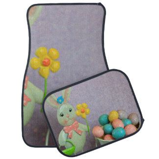 Easter Bunny and candy eggs Car Mat