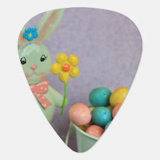 Easter Bunny and candy eggs Guitar Pick