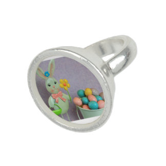 Easter Bunny and candy eggs Photo Rings