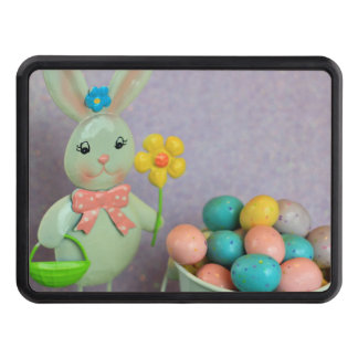 Easter Bunny and candy eggs Trailer Hitch Cover