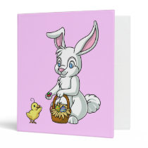 Easter Bunny and Chick Binder