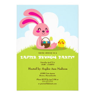 Easter Bunny and Chick Custom Announcements