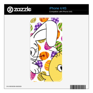 Easter bunny and chick decal for iPhone 4