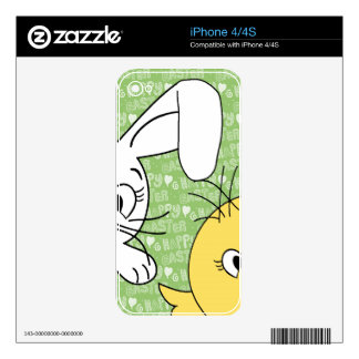 Easter bunny and chick decals for the iPhone 4
