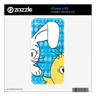 Easter bunny and chick iPhone 4S decal