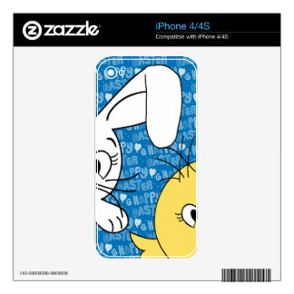 Easter bunny and chick iPhone 4S decals