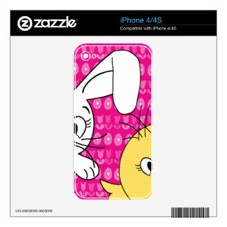 Easter bunny and chick iPhone 4S skin