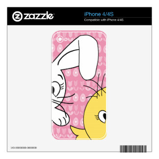 Easter bunny and chick skins for iPhone 4S