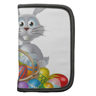Easter bunny and chocolate egg basket planners