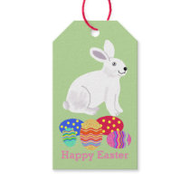 Easter Bunny and chocolate eggs Gift Tags