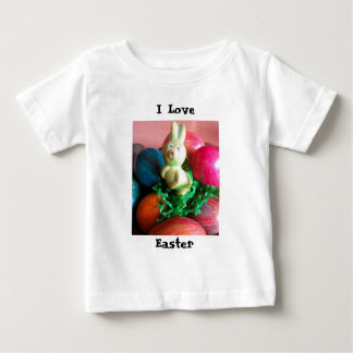 Easter Bunny and Colorful Easter Eggs Baby T-Shirt