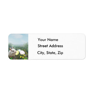 Easter Bunny and Easter Eggs Address Labels