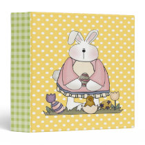 Easter Bunny and Easter Eggs Binder