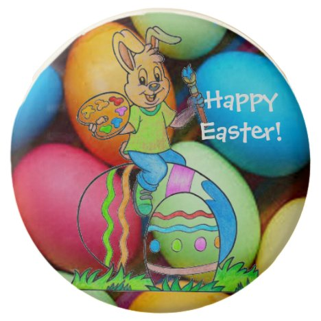 Easter Bunny and Easter Eggs Chocolate Covered Oreo