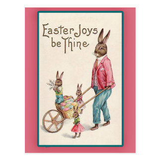 Easter Bunny and Easter Eggs Vintage Easter Cards Post Cards