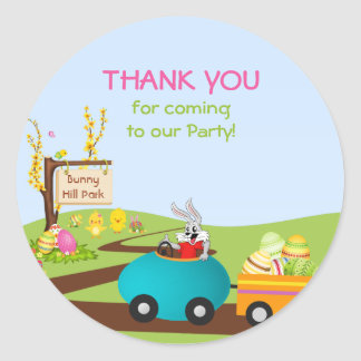 Easter Bunny and Egg Cart Stickers