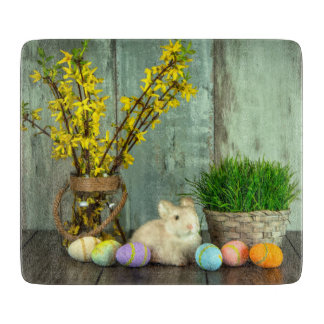 Easter Bunny and Egg Scene Cutting Board