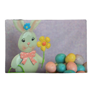 Easter Bunny and Eggs Travel Accessories Bag
