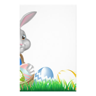 Easter Bunny and Eggs Basket Stationery