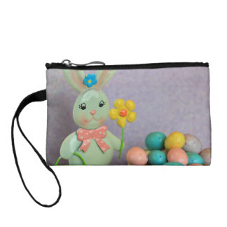 Easter Bunny and Eggs Coin Wallet