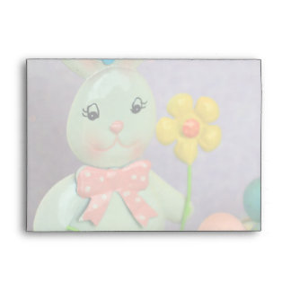 Easter bunny and eggs envelopes