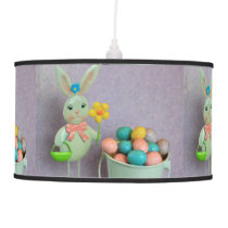 Easter Bunny and Eggs Hanging Lamp