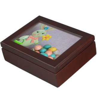 Easter Bunny and Eggs Keepsake Box
