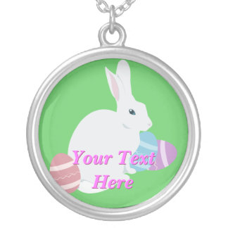 Easter Bunny and Eggs Necklace