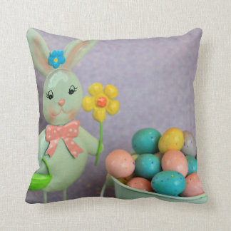 Easter Bunny and Eggs Pillow