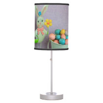 Easter Bunny and Eggs Table Lamp
