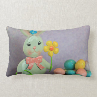 Easter Bunny and Eggs Throw Pillows