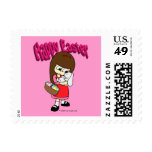 Easter Bunny and The Girl Postage Stamp