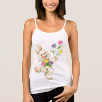 Easter Bunny And Tulips Tank Top