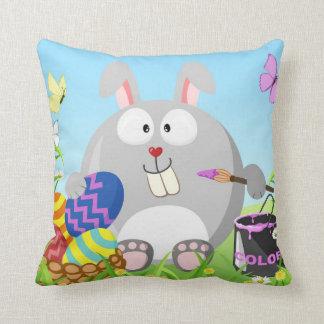 Easter bunny April Throw Pillow