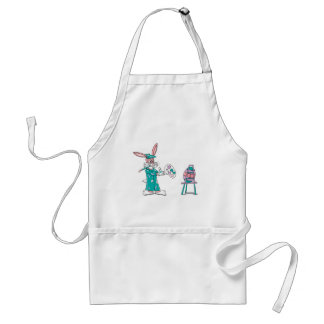 Easter Bunny Artist Adult Apron